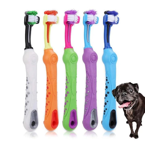 ClearBark™ Three-Sided Dog Toothbrush
