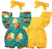 2 Pc Baby Ruffle Romper Set