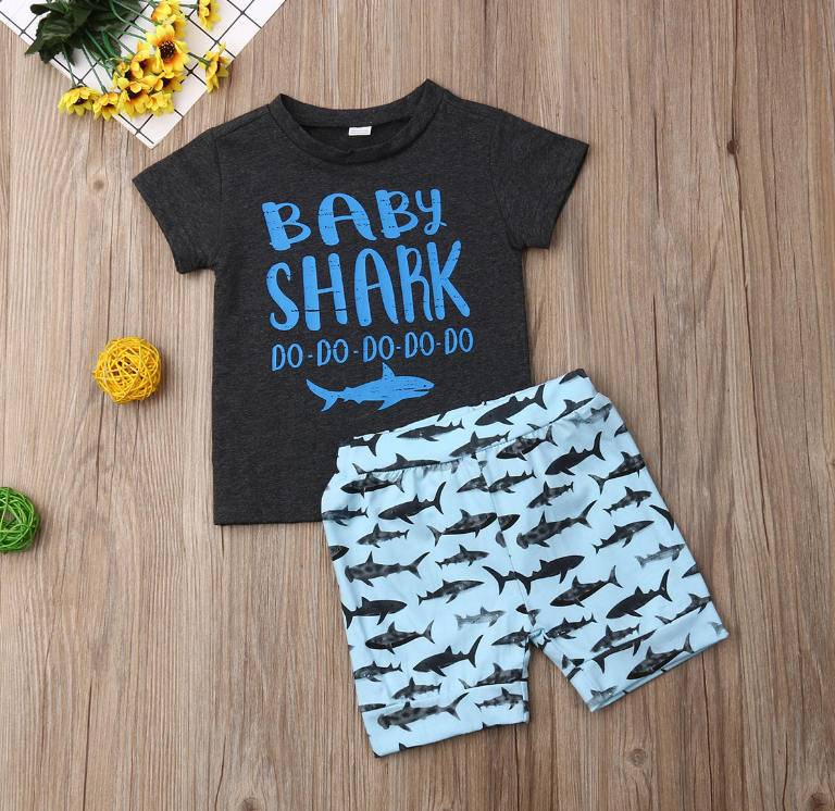 2-Pc Baby Shark Set
