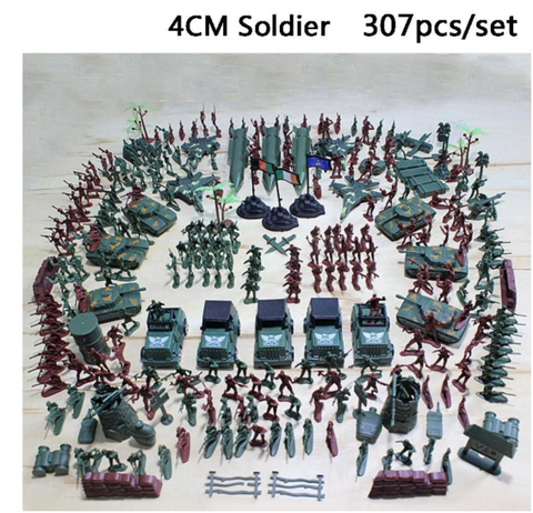 Children 307 Pieces Military Soldier Tanker Set