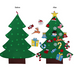 3D DIY Children Felt Christmas Tree Decoration with Ornaments