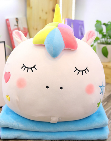 2 in 1 Unicorn Stuff Toy Blanket