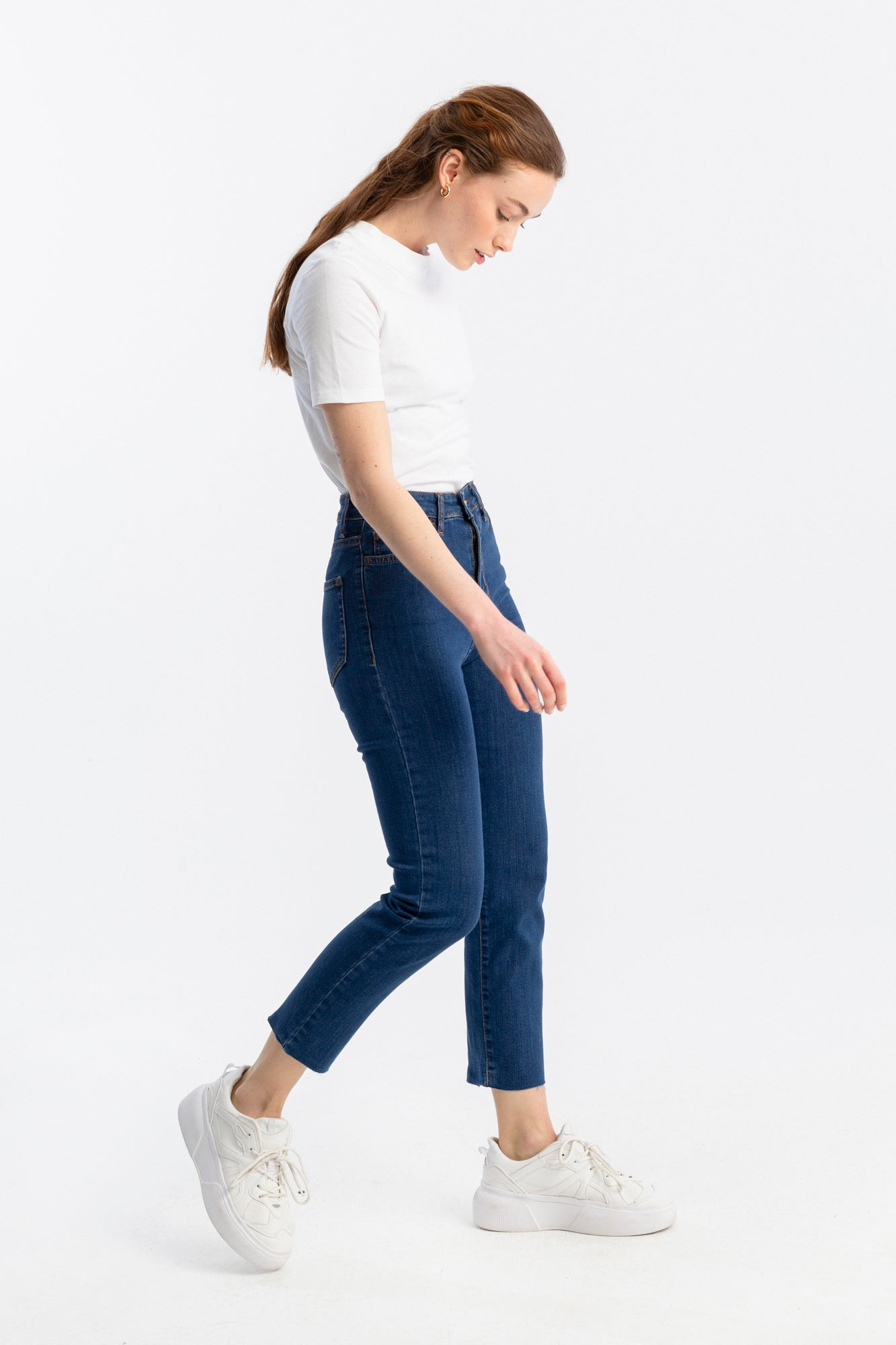Straight Fit Denim Pantolon