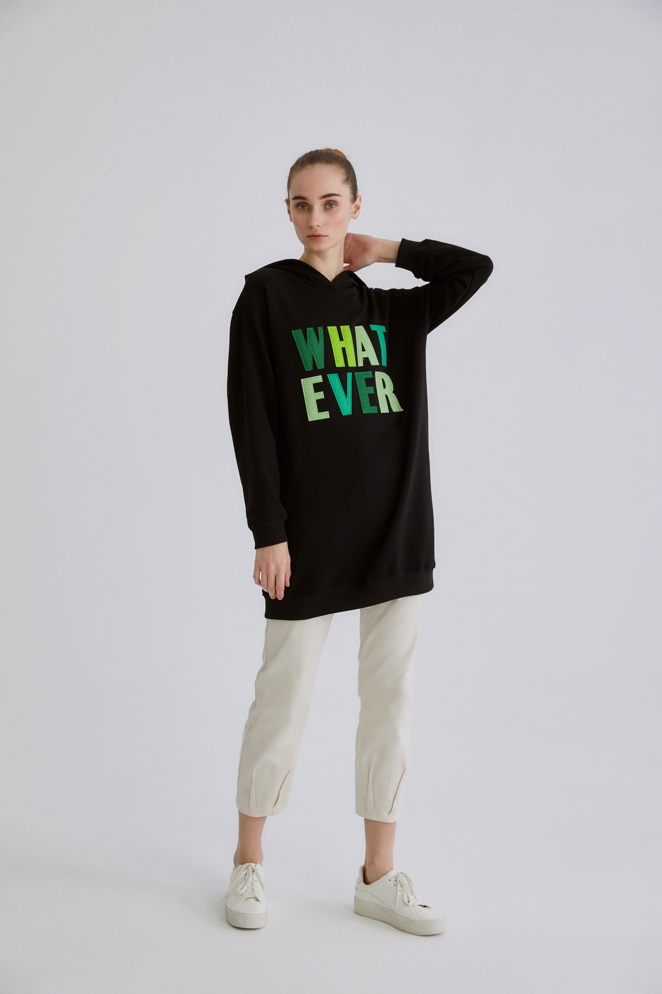 Whatever Kapüşonlu Sweatshirt
