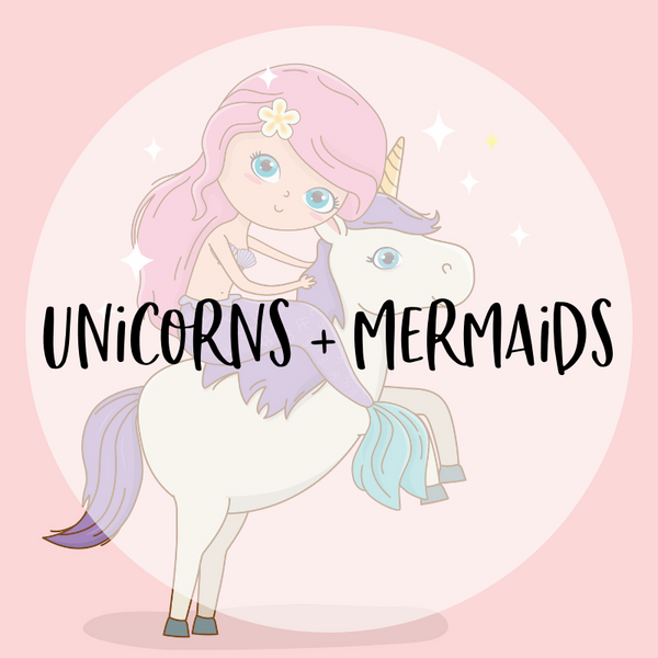 Unicorn and Mermaid Themed Decor