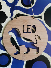 Lion Wall Hanging (Bamboo or Pastel Coloured Acrylic)