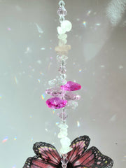 Gemstone butterfly suncatchers