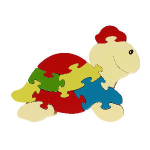 Bigzoos Large Wooden Turtle Puzzle