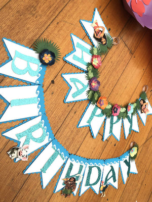 HAWAIIAN-INSPIRED HAPPY BIRTHDAY BANNER