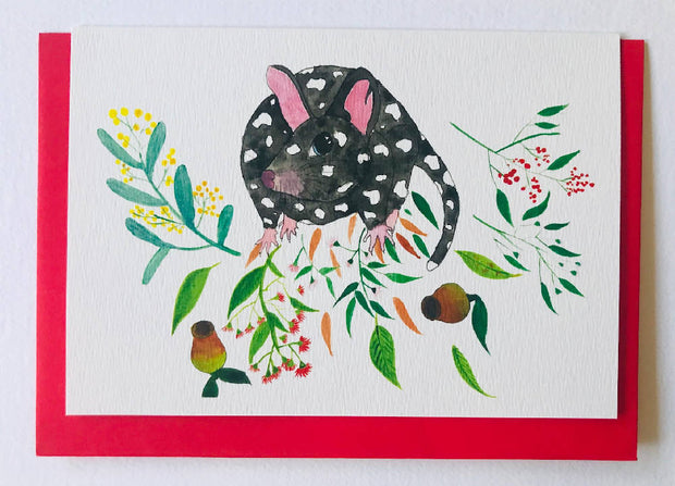 Christmas card - Spotted Quoll