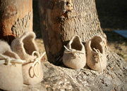 100% wool felted custom made baby shoes