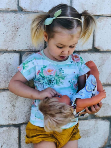 organic kids t-shirt, floral girls shirt, toddler shirt