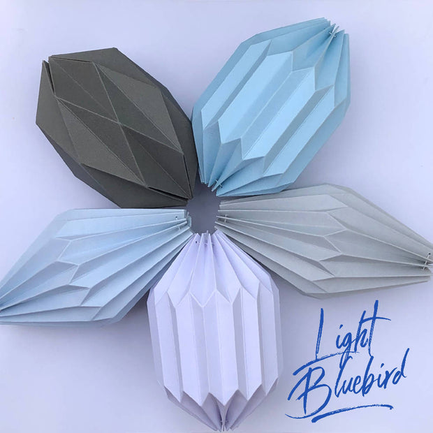 Flying Papper Bird Mobile - 'Light Bluebird'
