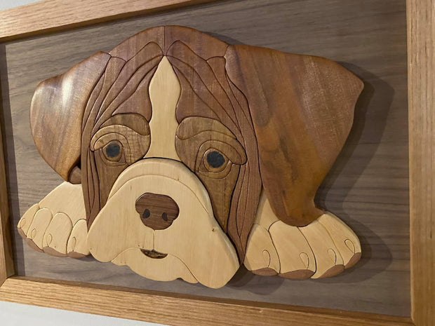 Boxer Puppy - Wooden Dog Tasmanian Timber