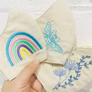 Embroidered Linen Face Masks