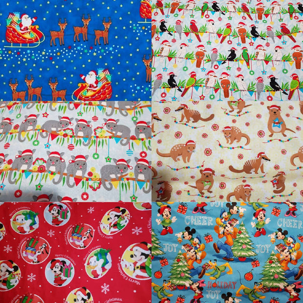 Button Up Shirt - Christmas Fabrics (Sizes 6-10)
