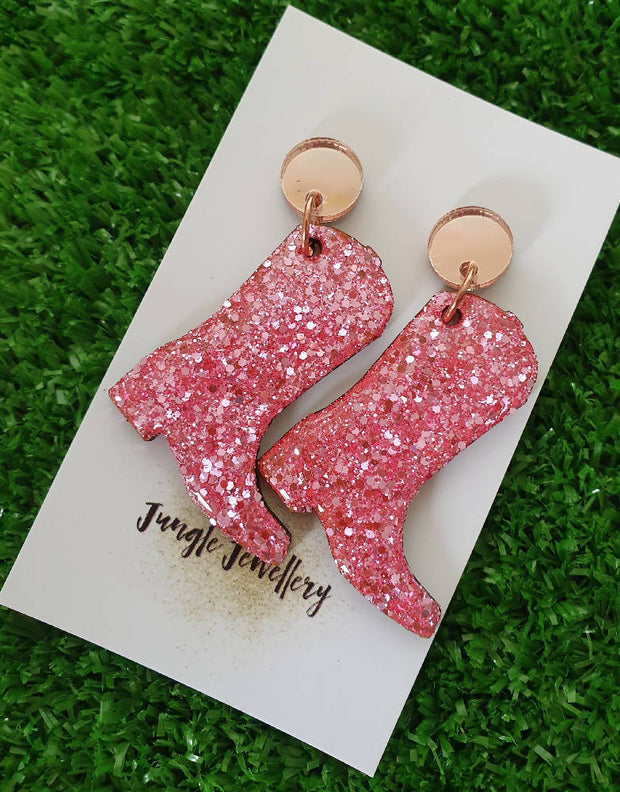 Cowgirl Boots Drop Earrings