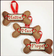 Personalised dog Christmas decoration