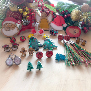 Christmas Earrings and Brooches
