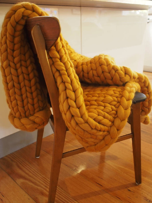 The Lion Chunky Knit Throw