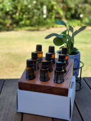 Essential Oil Bottle Display Stand - Graduated