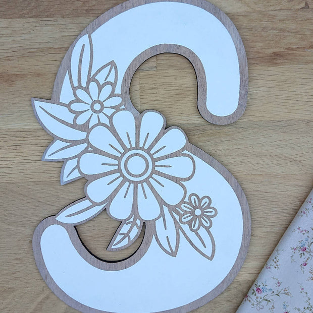 Cute wooden cut outs - Large Flower Alphabet Letters