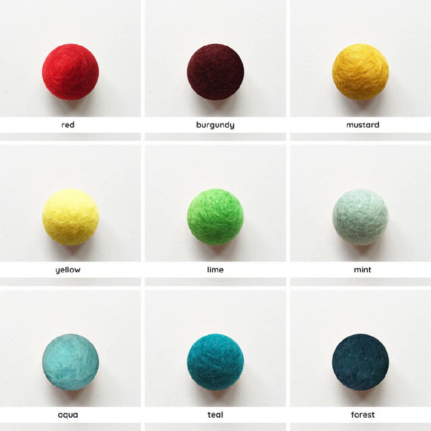 Felt Ball Christmas Decorations