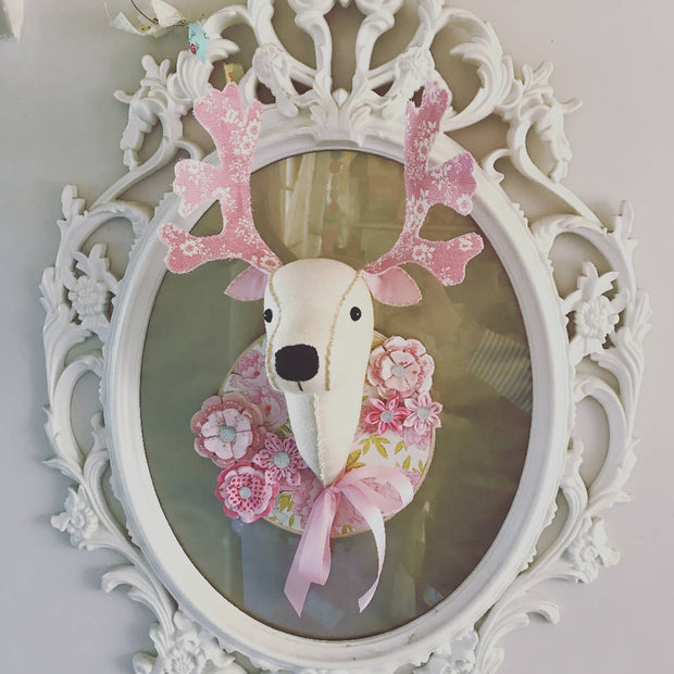 Floral Deer Faux Taxidermy
