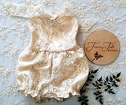 Baby/Girls Vintage Lace Romper and Matching Princess Tutu Lace Skirt