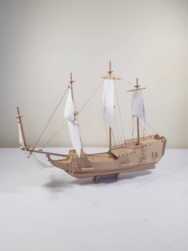 Pirate Ship 3D Wooden Toy Model