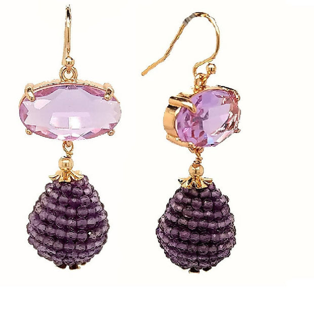 The Kyle gemstone drop Earring 13 colours