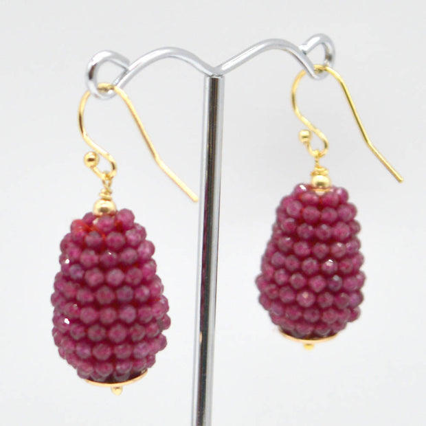 Ruby Teardrop Earrings