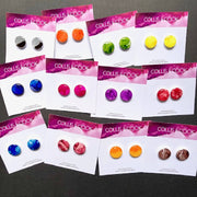 NEW Circular Studs-Various Colours 15mm