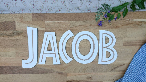 Cute wooden cut outs - Jurassic Alphabet Letters