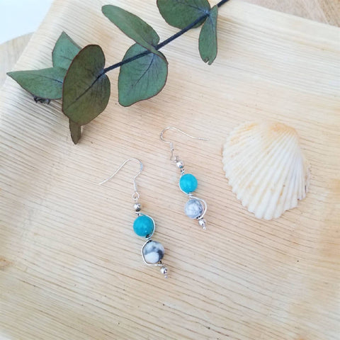 Jade Blue Earrings