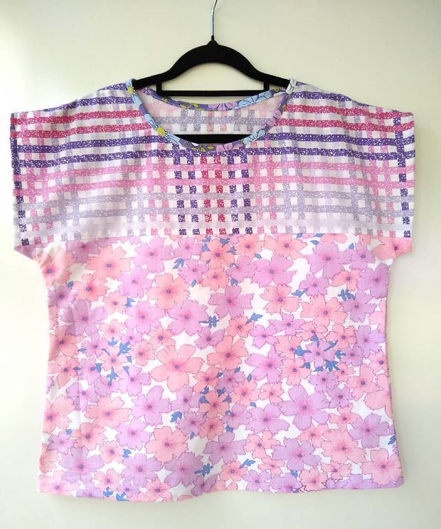 Spring Tee - relaxed fit top - size 10