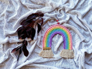 Macrame rainbow wall hanging - Traditional colours