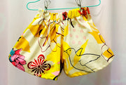 Floral cotton shorts