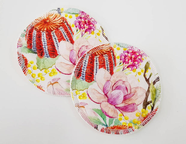 Native Floral WATER RESISTANT Breastfeeding/nursing pads