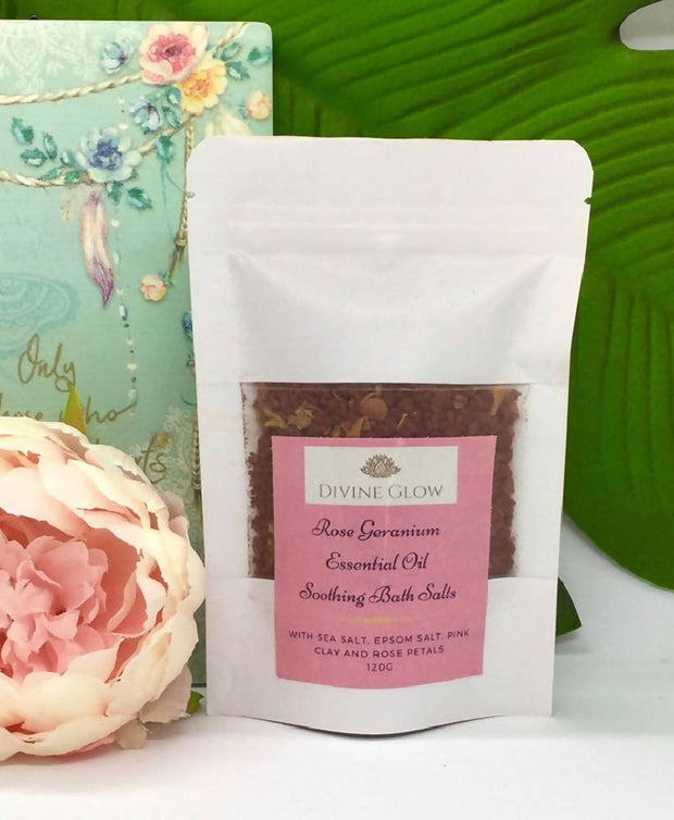 Essential Oil Soothing Bath Salts Single Sachets
