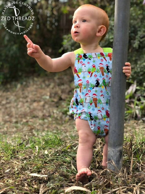 Summer Romper - Easter Fabrics (Premmie to 2 to 3 years)