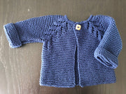 Cotton baby cardigan - 'Norwegian Fir' design