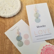 Sequin Duo Rose Quartz Earrings