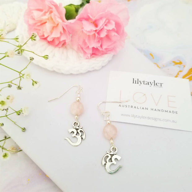 Morganite Omh Charm Earrings