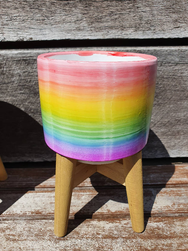 Rainbow ceramic ink pots