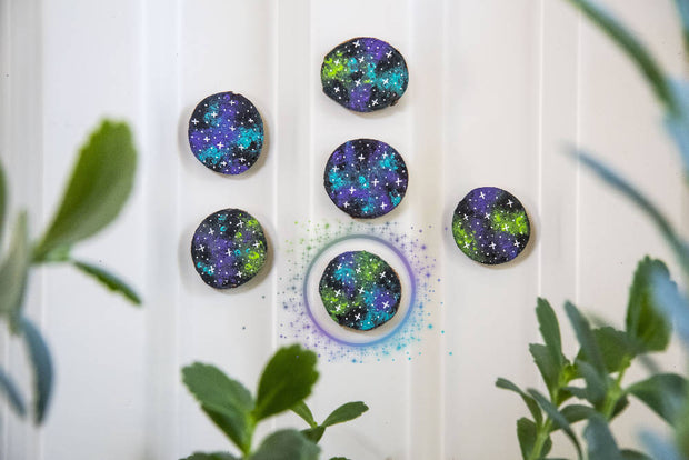 Galaxy Wood Magnets