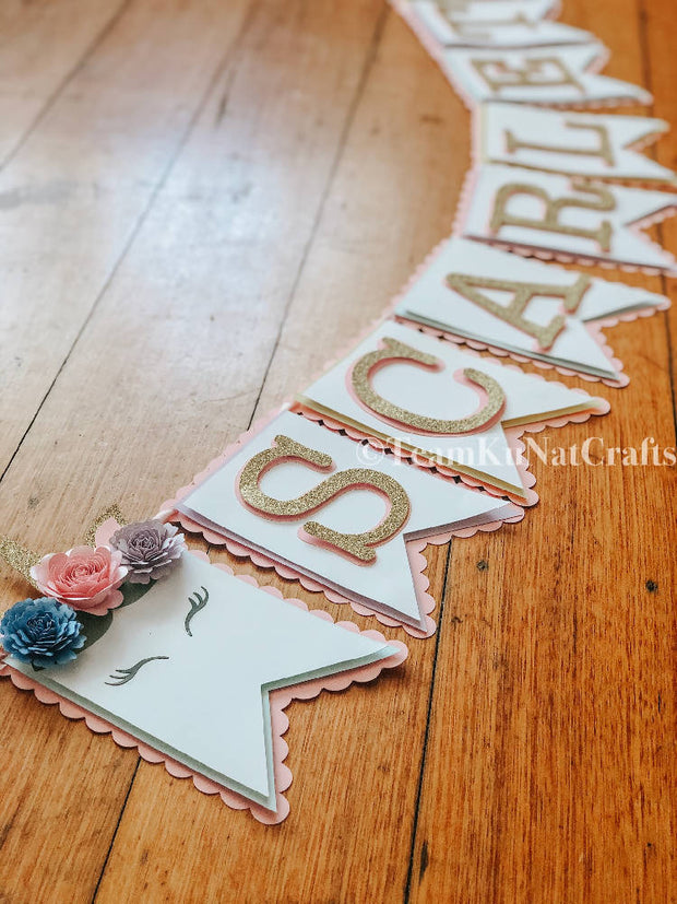 Customised Unicorn Name Banner