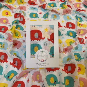 Muslin Blanket - Colourful Eles