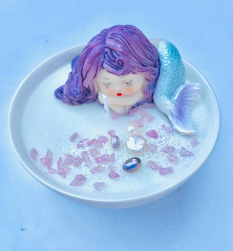 Pearly Mermaid Bliss Candle Bowl