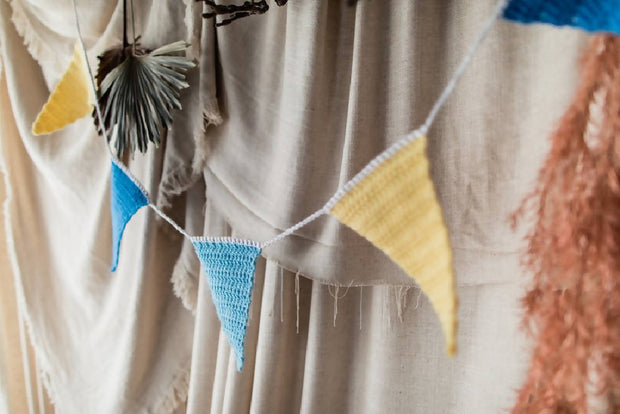 Crochet bunting flags
